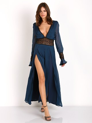 For Love & Lemons Sabine Maxi Dress Midnight