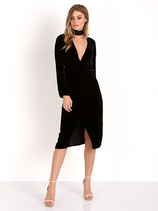 For Love & Lemons Collette Midi Dress Noir