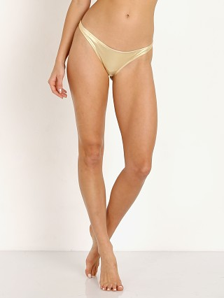 Solid & Striped The Rachel Bikini Bottom Metallic Gold