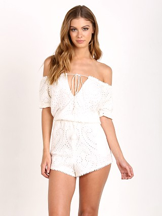 The Jetset Diaries Santa Fe Romper Ivory