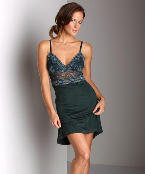 084cbd91b83 Wendy Glez Triangle Short Aphrodite Chemise Dark Teal
