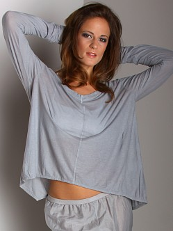 Wilt Intimates Crop Boyfriend Long Sleeve Top Algae