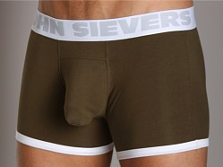 John Sievers Cotton Natural Pouch Boxer Brief Army Green