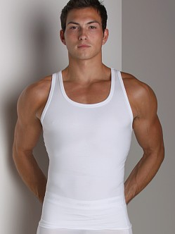 SPANX Cotton Compression Tank Top White
