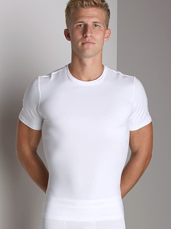 SPANX Cotton Compression Crew Shirt White