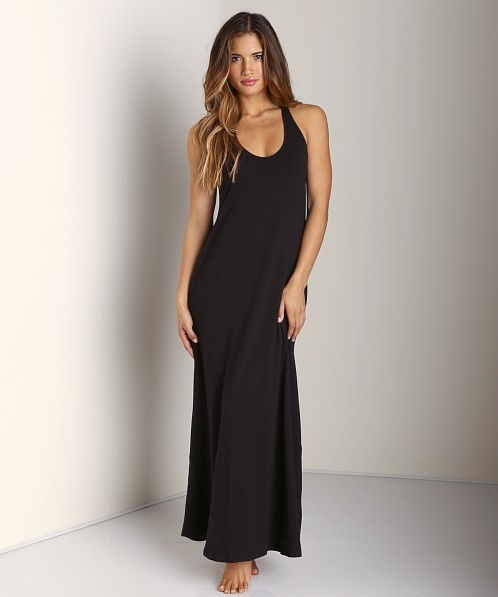 Splendid U Neck Maxi Dress Black