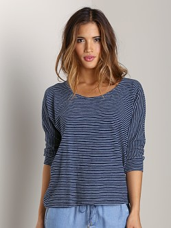 Splendid Indigo Dolman Top Dark Wash