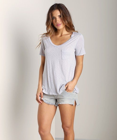 Splendid U Neck Tee Dove Grey