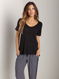 Splendid U Neck Tee Black