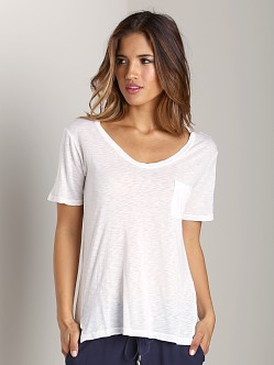Splendid V Neck Tee White