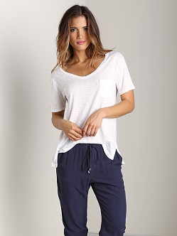 Splendid U Neck Tee White