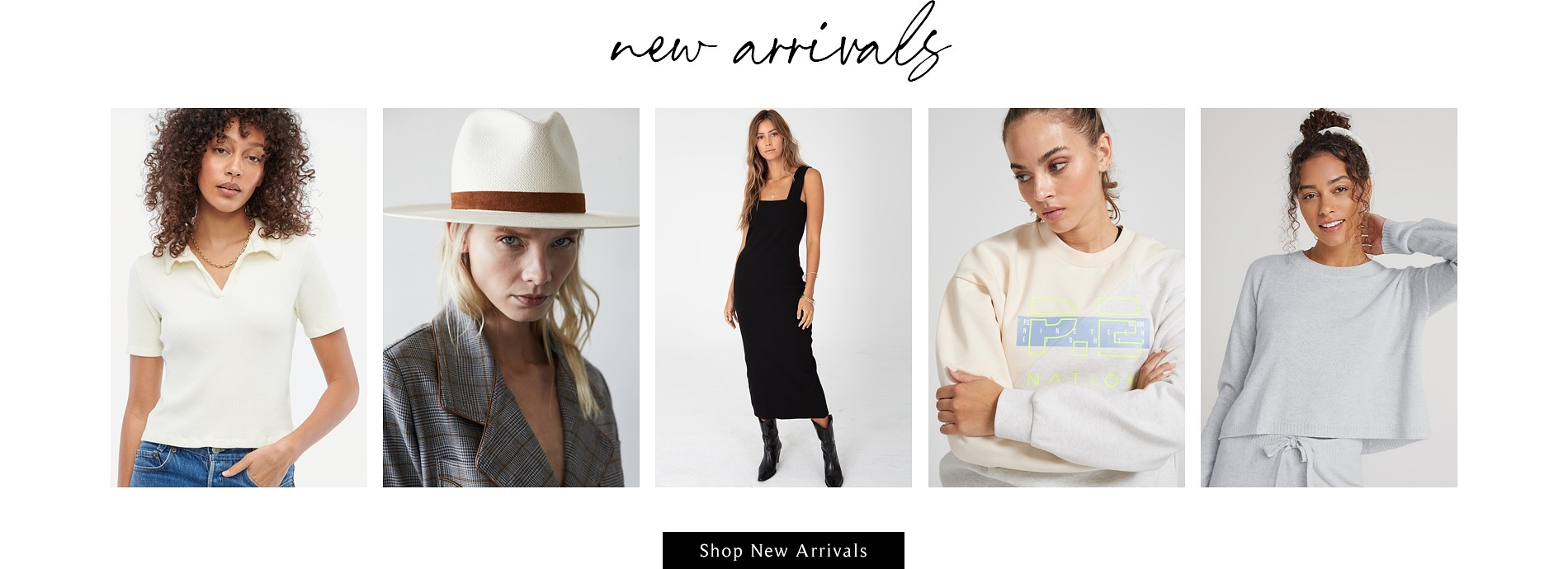 New sweaters, hats, dresses, activewear and sleepwear